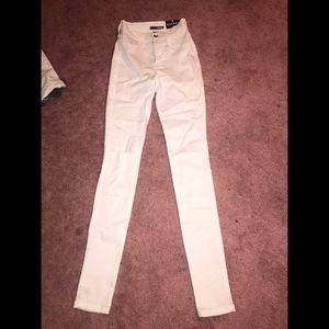 Fashion Nova Canopy Jeans- White